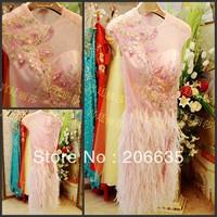 Discount Pink Mother Of Bride evening Dresses Rhinestones  On Sale 25% Off  NEWE-0407