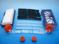 New Silicone blades and brushes and HEPA Dust filters for Neato  XV-21,XV-25,XV Signature Pro Automatic vacuum cleaner.