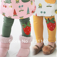 girl candy color flower legging children spring  strawberry  autumn skinny leggings