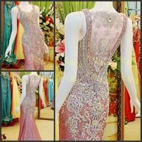 Discount Purple  evening Dresses Rhinestones  On Sale 25% Off  NEWE-0414