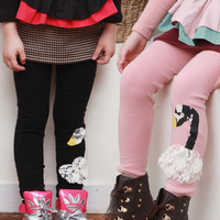 Winter New Fashion Kids Baby Girls Leggings Thicken Jeans Bow Pants Cotton Pants Elastic Waist Warm Pants