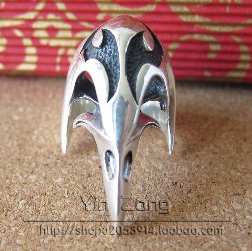 Pure Silver Rings Silver Skull 925 Pure Silver