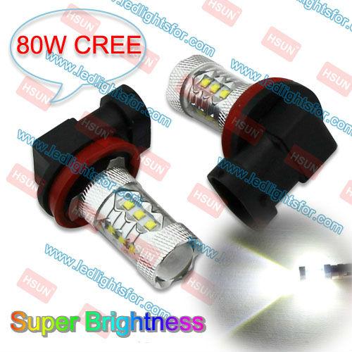 2 PCS H8 80W CREE HIGH POWER+10PCS T10 5 SMD5050 CANBUS,AUTO H8 LED LIGHT,FOG BULB H8 LED,W5W T10 LED FREE ERROR LAMP(China (Mainland))