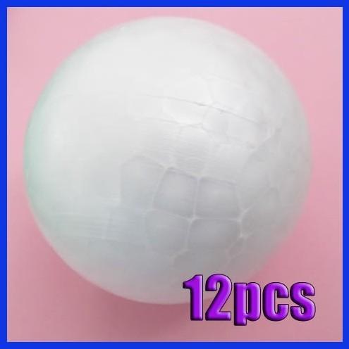 12x 70MM Modelling Polystyrene Styrofoam Foam Ball Sphere XMAS Decoration Craft(China (Mainland))
