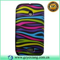 Hybrid Case Silicone+ Rubber  PC Design Case For Samsung S5570 Combo Case for Samsung