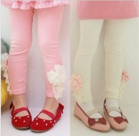 Female child baby children's clothing 2014 spring 100% cotton legging skinny pants 2 3 4 5 6 7