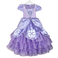 Princess Dress brand of high quality short-sleeved dress girls dress girls children's   party dress gift child kids