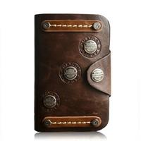 2014 Hot Sale Cool Design Genuine Leather Punk Style Vintage Men's Short Wallets Cowhide Men Wallet