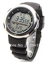 Brand New Multifunction Silver Case Rubber Belt EL Backlight Digital Display Alarm Chronograph Sports Swiss Military Gift Watch