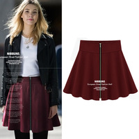 Women New Fashion 2014 Summer Spring European Style Tutu Skirt , Pleated High Waist Mini Skirt ZA