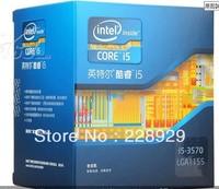 Intel core 2 i5-3570 box CPU (LGA1155/3.4GHz/6M three level cache is /77W/22 nm)
