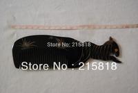 H003 Black Color Skin Care Buffalo Animal Massager Comb Horn