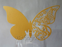 72 pcs butterfly shaped cup cards cupcake laser cut glass cup decoration cake boxes and packaging REE SHIPPING