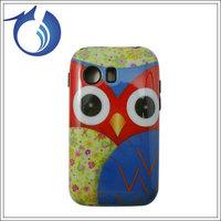 For Samsung S5360 Design  Combo Case Fashion Hybrid Case Silicone+ gloosy PC Case