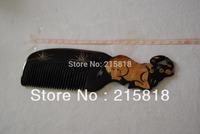 VS-H008 Black Color  Skin Care Buffalo Animal Massager Comb Horn