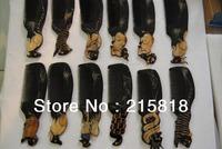 Black Color  Skin Care Buffalo Animal Massager Comb Horn 12pcs VS-H012