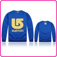 Free Shipping Online Stock Burton Brand  Dust Coat Men's Hoodies Clothing With Golden Burton Print Do Mix Order