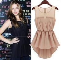 Free shipping summer new dovetail skirts, sleeveless chiffon dress fashion coat