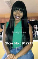 Hot Sale Fanshion  Density Silk Top/Base Straight with Bang  Brazilain Virgin Human Hair  Glueless Lace Front  Wig/Full Lace Wig