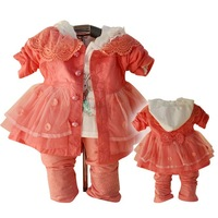 Wholesale! Free shipping! ZY123 New Spring Autumn Baby Girl Clothing 3Sets/Lot Toddler clothes Infant Outfits T-shirt&pants&Coat