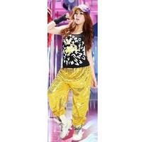 2014 New Style Hip-Hop Show Dance pants Modern Dance Flash Sequins Elastic waistband 4 Color Size:S-L