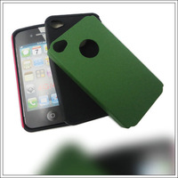 Hard Combo Phone Case For iPhone 4 Dull Polish 2 IN 1 Case Cover