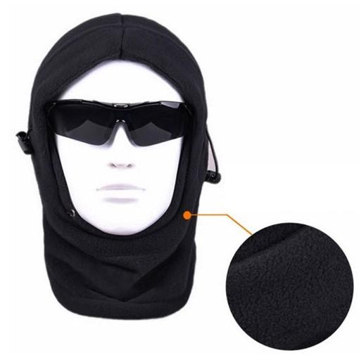 in 1 in pile termico passamontagna cappello cappuccio polizia swat