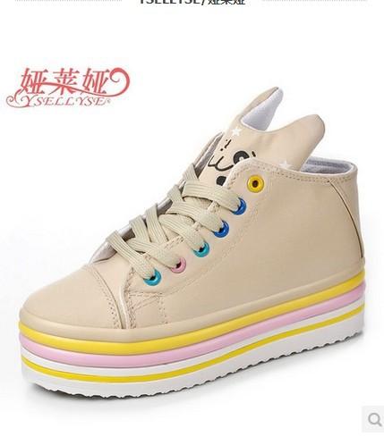 get cheap white platform sneakers aliexpress