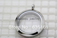10pcs 30mm stainless steel screw plain glass locket for floating charms