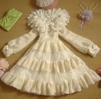 Spring New 2014 Elegant Winter Lolita Dresses Ruffles Lantern Sleeve Peter Pan Dress Princess Sweet Lolita Dress