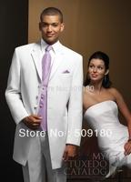 High quality wool customized tuxedo design male suits 5 pieces(Coat+Pants+Vest+tie+Shirt)TZ014 wedding suits for men white