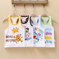 1pieces summer Vest Pure cotton vest children h vest Children's T-shirt vest children condole belt in summer Free shipping