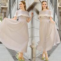 chiffon lace decoration fashion elegant vintage small cloak full dress one-piece dress