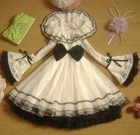 Spring New 2014 Elegant Black Lace Lolita Dresses Ruffles Flare Sleeve Peter Pan Dress Princess Sweet Lolita Dress