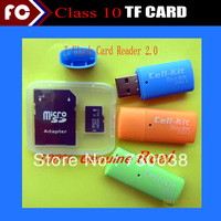 2014 New Hot 32GB 16GB 64GB 8GB Memory cards TF flash card Micro SD card Free Adapter+USB 2.0 Card reader+Free shipping