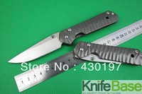 CHRIS REEVE Classica Sebenza 21 wave pattern Folding Knives 440C 58HRC Blade STEEL Handle With White Box free shipping 1pcs
