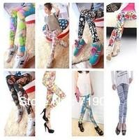 Free shipping High elasticity Geometric Women Pants 2014 Fashion Female Capris Good Quality