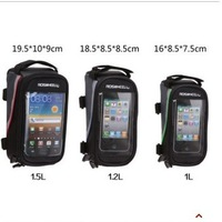 4.2'' 4.8'' 5.5'' Bike Bicycle Pouch Waterproof  Frame Pannier Bag Front Tube Case For GPS Touch Screen Cell Phone Free shipping