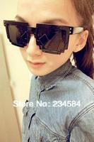 2014 new mosaic block adult unisex sunglasses Korean retro sunglasses block
