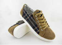 Men's Shoes Fashion Sneakers British Style Flats for Male Popular Plaids Shoes Shipping Wholesale Sale XMB040