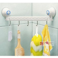 New creative adsorbability wall sucking hook rack pothook hanger for bathroom and kitchen free shipping