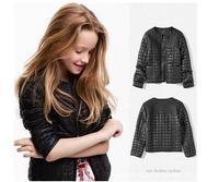 2014 children outerwear girls leather jacket PU  girls jacket  TQ15R free shippping outerwear kids atacado roupas infantil