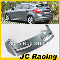 ABS Grey Painted ST Style Auto Car Rear Wings, Trunk Lip Spoiler For Ford Focus 12-13  (Fits For 12-13  Focus Hatchback )