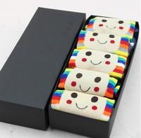 Free shipping The new cartoon cotton mushroom socks gift box  5pairs /lot