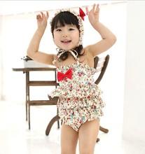 2014 nieuwe prinses meisje kleding sets 5-9 jaar meisje strand zomer