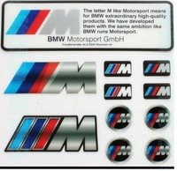 Auto Car Emblem stickers for BMW Motosport sticker M sport logo icon sticker wholesale