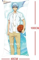 Free shipping sprot boy pillow hugging pillow the basketball which kuroko plays pillow case Animation single long pillow