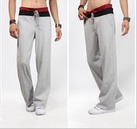 New boy london sports pants men harem color block elastic waist sweatpants joggings trousers hot street running training xxl