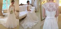 New White/Ivory Lace Wedding Dress Custom All Size 2-4-6-8-10-12-14-16-18-20-