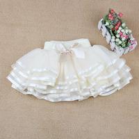 2014 New Hot Children Girls TuTu Skirts , Girl Dance skirts With Bowknot Decorate , Princess Layered skirt Bubble Skirt